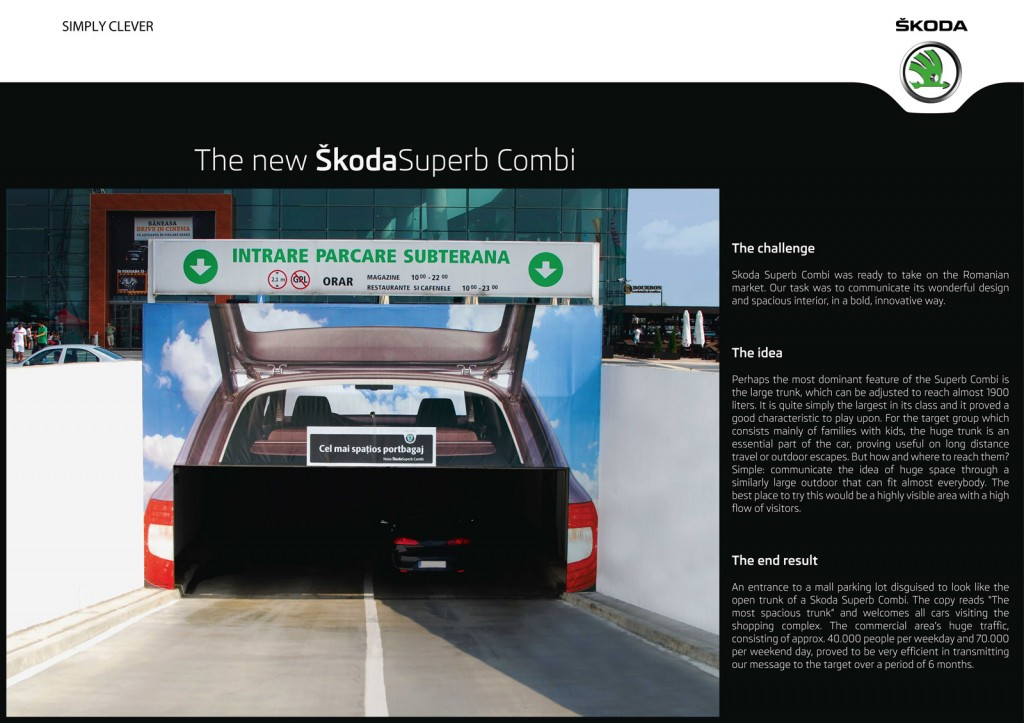 Eine Werbeaktion von Skoda Rumänien