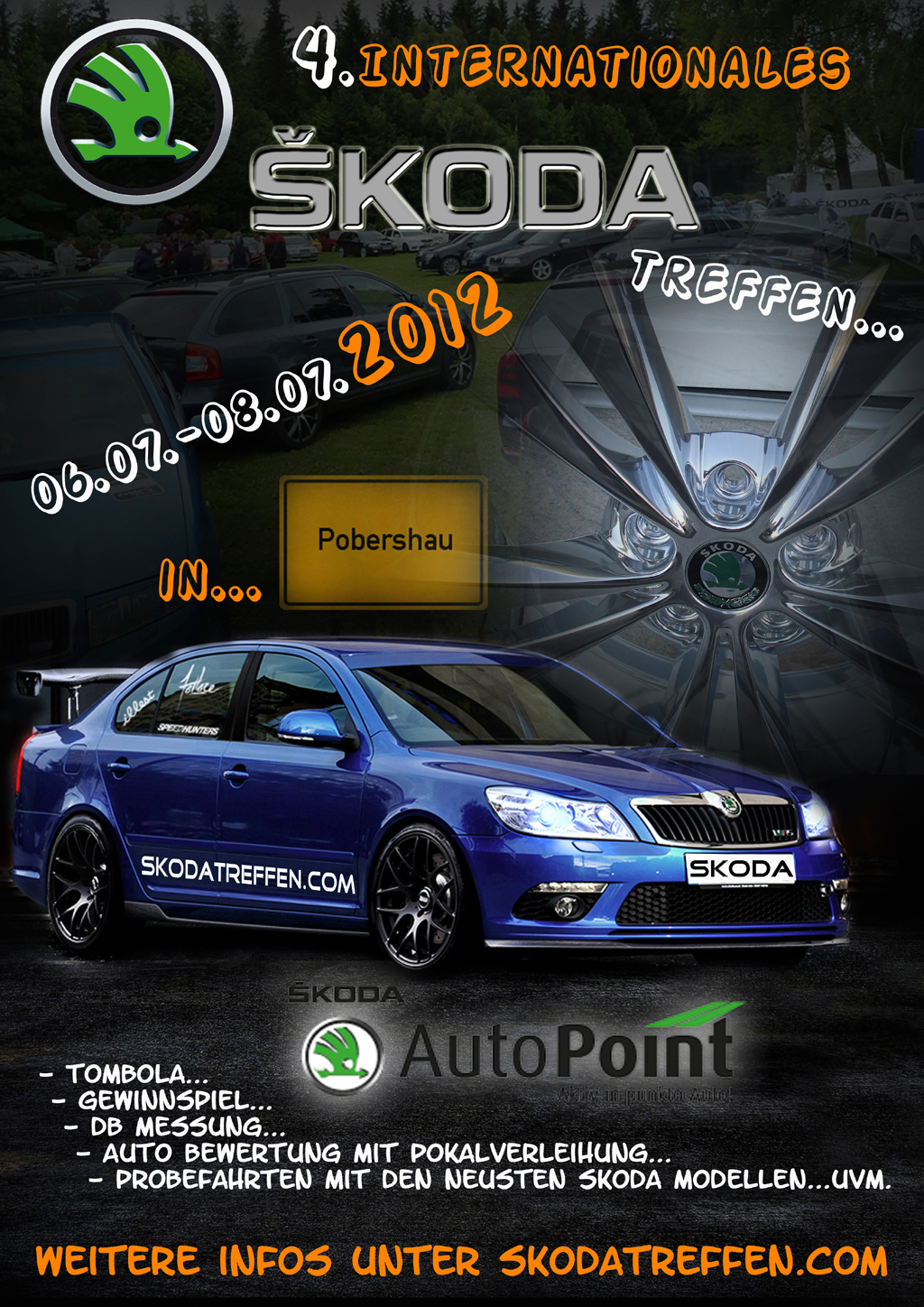 Update: 4. internationale Skoda Treffen vom 06.07. – 08.07.2012