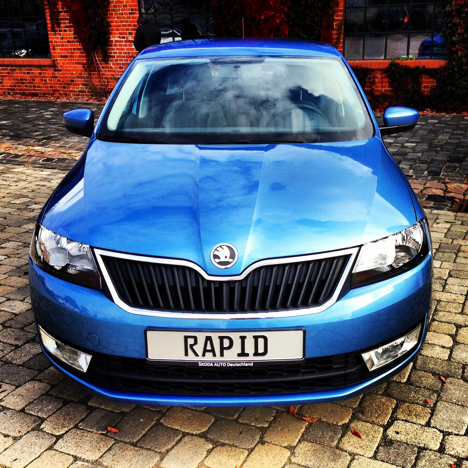 Skoda Rapid Denim Blue Front