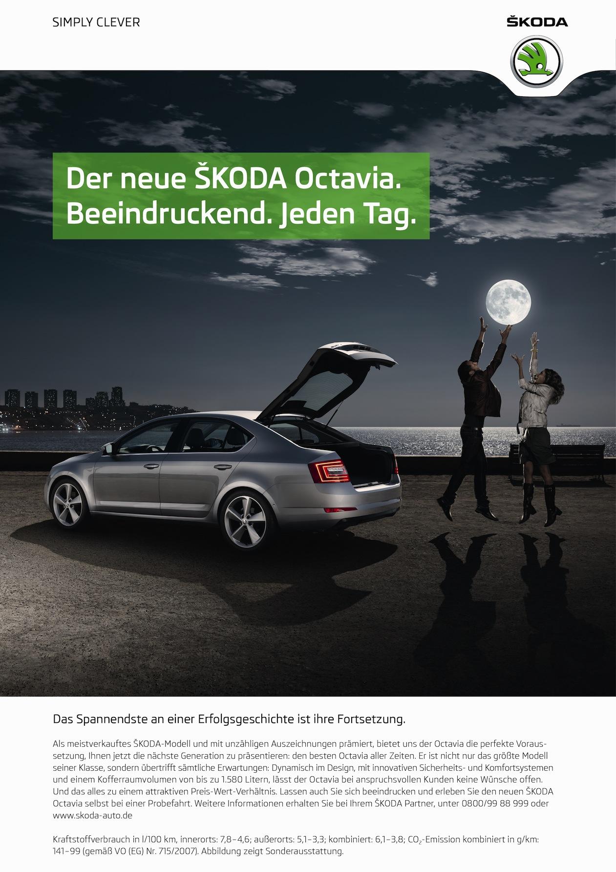 Die deutsche Octavia III Werbung