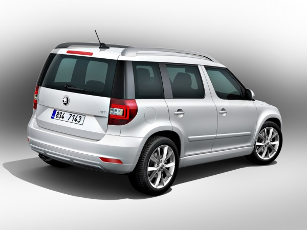 Skoda Yeti Facelift 2014 back