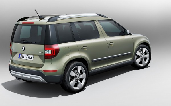 Skoda Yeti Facelift Outdoor back