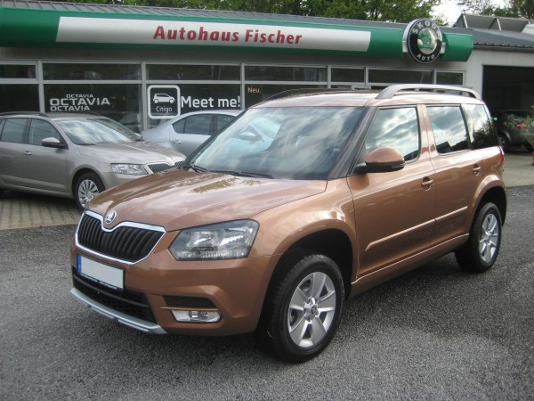 Skoda Yeti Facelift Terracotta Orange 2014