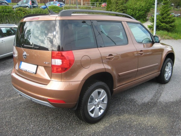 Skoda Yeti Facelift Terracotta Orange