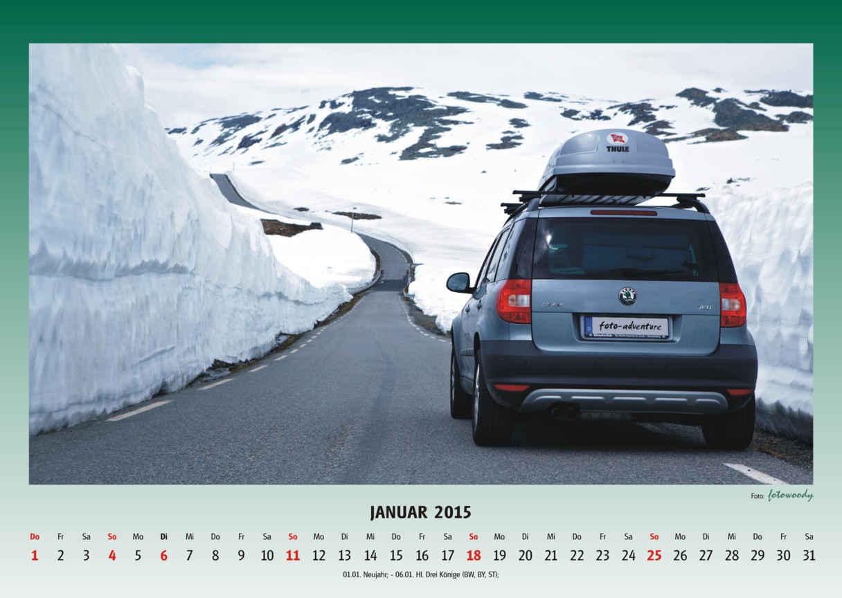 Der Yeti Kalender 2015 ist bestellbar