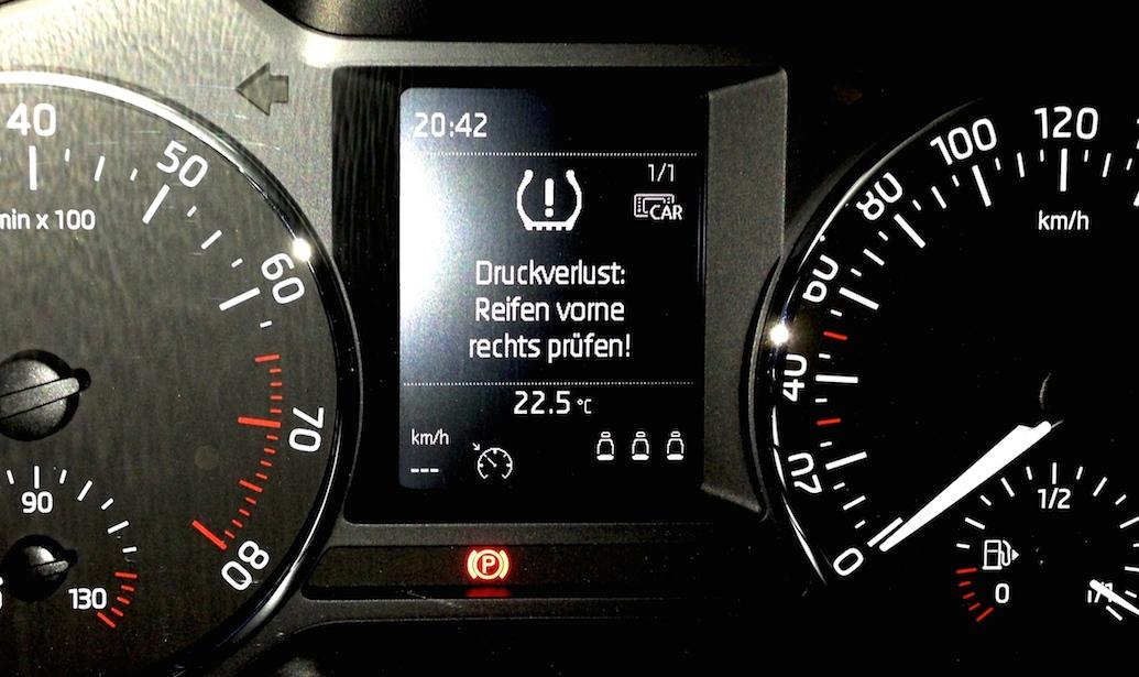 Reifenkontrollanzeige Mercedes A Klasse