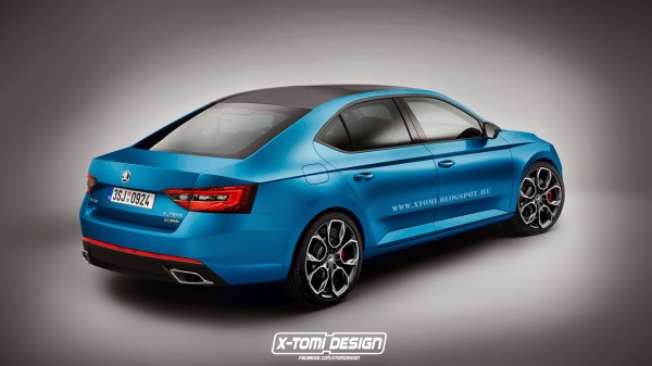 Skoda SuperB RS rear2