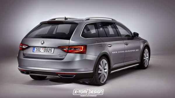 Skoda Superb Scout rear2