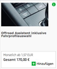 Der Offroad-Assistent ist nun ein Bestandteil der Fahrprofilauswahl