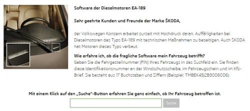 FIN Abfrage Skoda EA 189