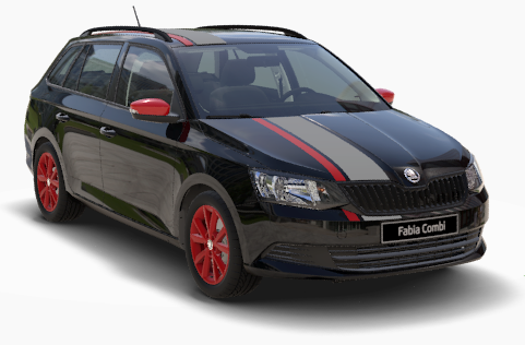 Fabia Combi Red Grey Black Magic