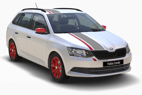 Fabia Combi Red Grey Moon Weiß