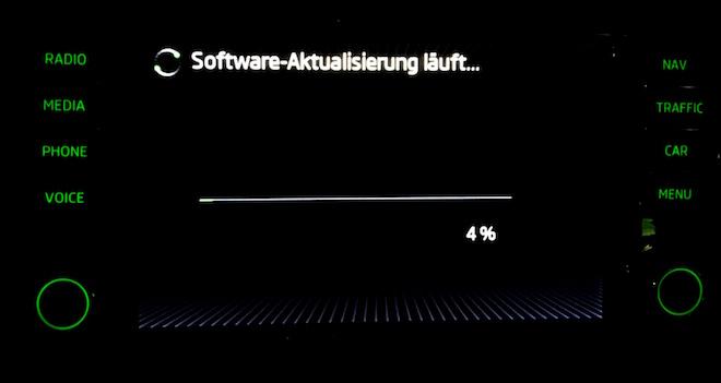 Software-Aktualisierung Skoda Columbus