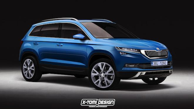 Neues Kodiaq Rendering und weitere Informationen zum neuen SUV